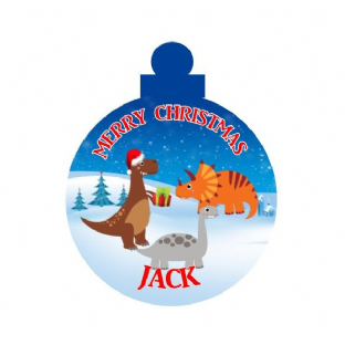 Dinosaurs Acrylic Christmas Ornament Decoration